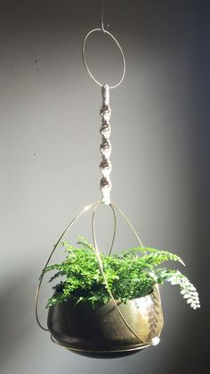 Macramé Plant Hangers Available in 3 sizes and 3 colours- White, Black or Natural JuteAvailable in 3 sizes and 3 colours- White, Black or Natural Jute Macramé Hanging Wood Basket / Macrame Plant Hanger Macrame Design, Macrame Art, Macrame Projects, Macrame Knots, Macrame Rings, Diy Plant Hanger, Crochet Plant Hanger, Plant Holders Diy, Macreme Plant Hanger
