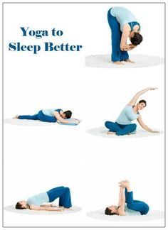 yoga to sleep better \ hold each pose for 15-30 seconds