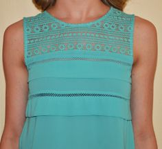 Mint Candy Apple Top