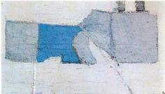 Nicolas de Stael (1914 - 1955) Composition en Gris et Bleu