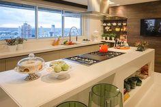 Construindo Minha Casa Clean: 30 Cozinhas com Ilha de Cocção / Refeição - Veja Dicas e Ideias!