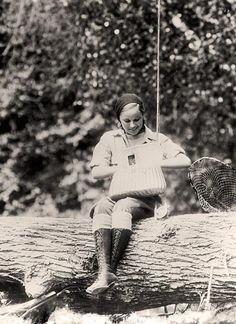 Girl Fishing You are looking at an historic photo of Girl Fishing. It was taken between 1905 and 1945 by Harris & Ewing.