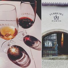 Can't think of what to do on a rainy  day? How about a wine tour and tasting? I visited Ferreira Port Wine Cellars for the first time a week and a half ago. If you're new to port the tour is just right in length and breadth. Tastings (including tour) start at 10 for 2 ports. #Porto