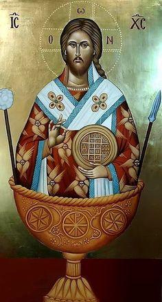 Jesus Art, Jesus Christ, Religious Paintings, Byzantine Art, High Priest, Orthodox Christianity, Orthodox Icons, Virgin Mary, Art Projects