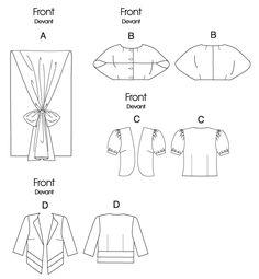 Vogue Patterns 8721 misses wrap,shrug, and jacket