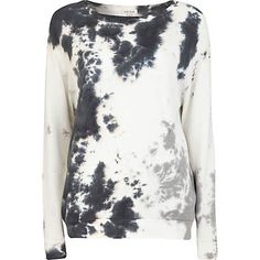 Black tie dye boxy sweatshirt - sweaters / hoodies - t shirts / vests / sweats - women (£25.00) - Svpply