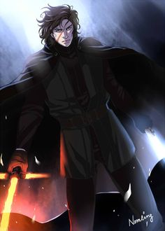 By Sponge Tree, it's Kylo Ren looking like an anime character. Star Wars Saga, Star Wars Kylo Ren, Star Wars Fan Art, Star Wars Characters, Anime Characters, Grand Admiral Thrawn, Drawing Stars, Kylo Ren And Rey, Star Wars Wallpaper