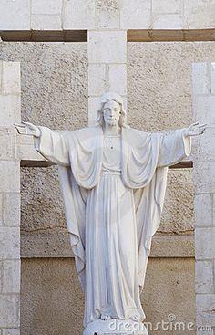 A Jesus statue in a Christian church in Amman, Jordan
