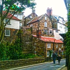 Robin hood's Bay is an amazing costal village clinging to the North Yorkshire Moors near Whitby UK