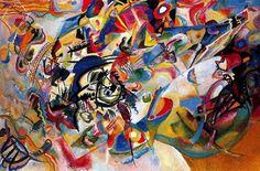 Composition VII—according to Kandinsky, the most complex piece he ever painted (1913
