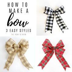 Boxwood Wreath Diy, Diy Wreath, Wreath Bows, Make A Wreath Bow, Making Ribbon Bows, Wreath Making, Making Bows For Wreaths, Ribbon Wreaths, Tulle Wreath