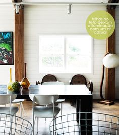 rustic modern dining room (those chairs)