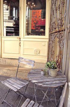 Vintage Hermès in Saint-Germain, Paris... Notice the red croc kelly purse in the window?