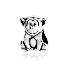 Sterling Silver  Monkey European  Bead Sku  220113
