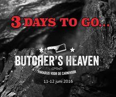 Het aftellen is begonnen! Nog drie dagen tot het foodfestival voor de carnivoor Butcher's Heaven - Amsterdam.  #butchersheaven #houseofrebels #pr #countdown Pr, Rebel, Amsterdam, To Go, Heaven, Marketing, Movie Posters, Movies, House