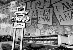 The Lorraine Motel infamous because of it being the site where Martin Luther King was assassinated White Couple, Fine Art Prints, Canvas Prints, Green Books, Metallic Prints, Ray Charles, King Jr, Martin Luther, Lorraine