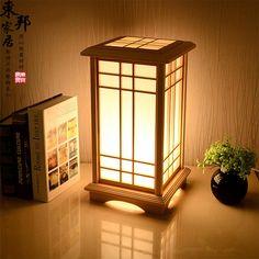 Customized room tatami floor lamp solid wood lamp and floor lamp Japanese Shoji paper living room bedroom lamp