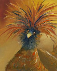 Polish Chicken Oil painting by Amy Hautman