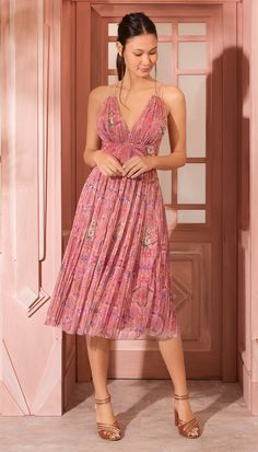Shop sexy club dresses, jeans, shoes, bodysuits, skirts and more. Beautiful Summer Dresses, Elegant Dresses, Beautiful Outfits, Cute Dresses, Pink Midi Dress, Dress Skirt, Dress Up, Prom Dresses With Pockets, Dress Outfits