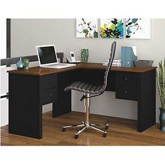 Corner Desk, Modern Home Office, Somerville Compact L-Shaped Desk, 45420-18