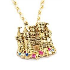 Disney Couture Little Mermaid Sandcastle Necklace