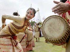 Assamese dancers perform Bihu