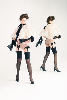 The Gentle Orchid stockings worn with bodysuit or favorite suspender belt add a feminine twist to the wearer's image making a chic addition to the lingerie drawer.