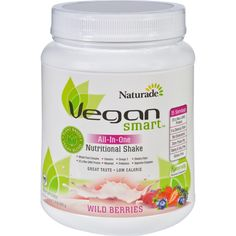 Naturade Nutritional Shake - Vegan Smart - All-in-one - Wild Berries - 22.8 Oz