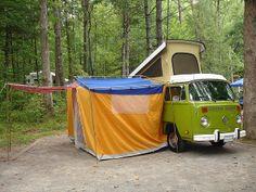 My Campsite by Russ Jackson, via Flickr. 1978 VW Bus Westfalia Campmobile.