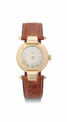 Patek Philippe. An unusual 18K pink gold wristwatch with hooded lugs. Manufactured in 1938 #ChristiesWatches