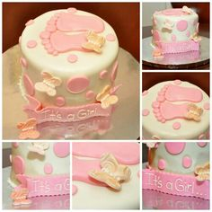 Foot print# baby shower cake# it's a girl