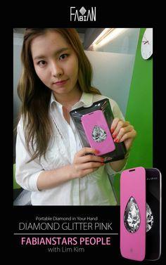 FABIANSTAR PEOPLE K.STAR Lim Kim  Diamond glitter pear Pink