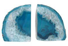 Stone Turquoise Bookends on OneKingsLane.com
