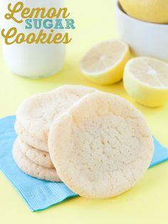 The easiest lemon sugar cookie recipe (and tastiest!).