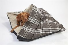 Chequers Snuggle Bed, Grey Check, Large