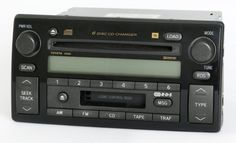 Toyota Camry 2002-2004 Radio AM FM 6 Disc CD Cassette Player 86120-AA060 A56820