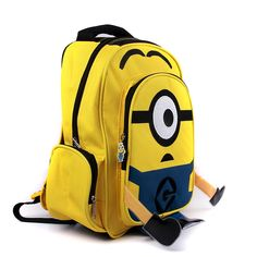 9135a2e7847 Despicable Me children cartoon Minion child yellow bag backpack for kids  children school bags for students schoolbag