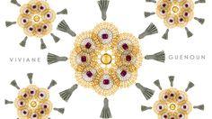 Dolce Filigrana y Fiesta Art Déco son los nombres que tienen las dos colecciones a los que pertenecen estos zarcillos de la diseñadora Viviane Guenoun.