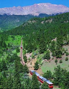 Pikes Peak. We love all the inclines and railways like this. Climbed this back in 1988 it was an amazing climb the view at the top is breath taking