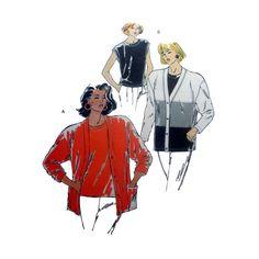 Women's Cardigan and Sleeveless Knit Top Sewing Pattern Size XS, Small, Medium, Large, XL Uncut Kwik Sew 1931