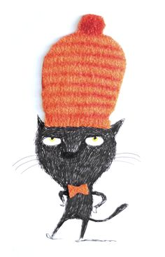 Ina Hattenhauer for the Big Draw charity postcard lotto @ Urban Graphic Illustrations Posters, Character Design, Drawing Illustrations, Graphic Illustration, Cats Illustration, Artwork, Animal Illustration, Cat Drawing, Cute Illustration