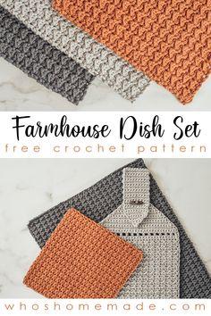 Crochet Dish Towels, Crochet Kitchen Towels, Quick Crochet, Diy Crochet, Washcloth Crochet, All Free Crochet, Crochet Ideas, Crochet Baby, Beginner Crochet Projects