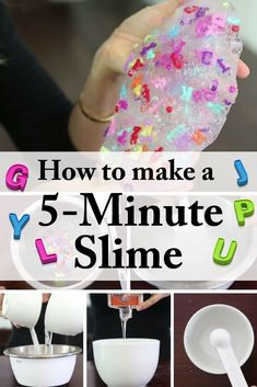 Homemade 5-Minute DIY Slime: Entertain Your Kids for Hours - http://www.thebudgetdiet.com/homemade-5-minute-diy-slime-entertain-your-kids-for-hours?utm_content=snap_default&utm_medium=social&utm_source=Pinterest.com&utm_campaign=snap