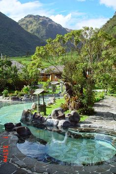 Termas de papallacta hot springs high in the Ecuadorean andes. Very relaxing day in the hot pools.