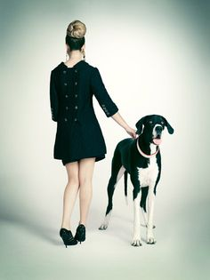 Black and white. Photo by Emily Shur for Paper Magazine. #greatdane