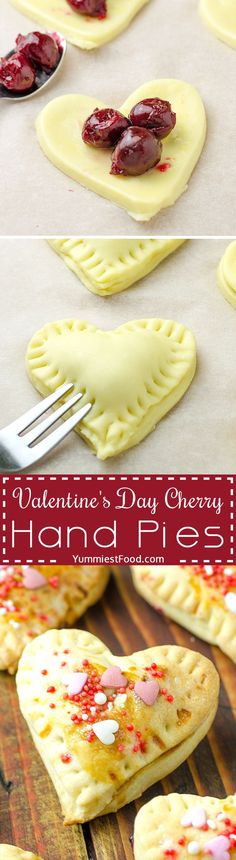 Valentine's Day Cherry Hand Pies - a special recipe for a special occasion Valentine's Day. Surprise your loved ones with delicious Cherry Hand Pies dessert!