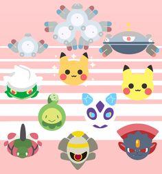 Magnemite, Magneton, Magnezone, Roserade, shiny Pikachu, normal Pikachu, Budew, Froslass, Yanmega, Dusknoir, and Weavile