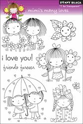 Penny Black Clear Stamps - Mimi's Many Loves - Click to enlarge