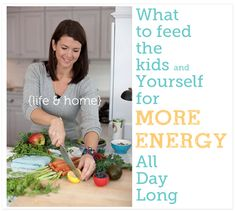 Love these 5 Steps for Eating for Energy - the sample daily menu (recipes for a breakfast, lunch, dinner, and snacks) really helped me!