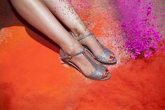 Sandali di cuoio Non scintillanti / Sandalo open toe vegano / unico bassa scarpe tacco / beautiful scarpe comode / alta qualità quotidiana Sandali